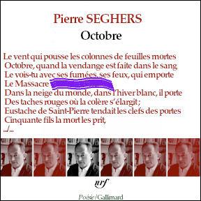 Retrouvez la rime du 4e vers (associée à celle du second) de ce poème de Pierre Seghers.
