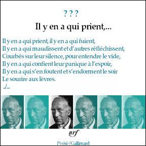 Qui a écrit ce poème en 1943 ? Indice : Il était le père qu'un cinéaste français de renom, décédé en mars 2021.