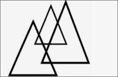 Combien y a-t-il de triangles sur l'image ?