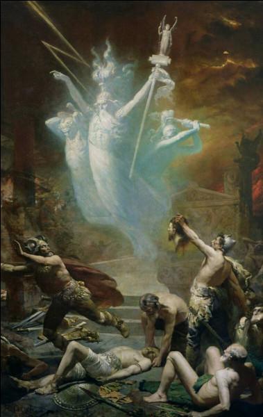 Le chef gaulois Brennus avec son armée de guerriers déchainés détruira ce célèbre temple d'Apollon lors d'un de leurs raids en 279 à J. -C. Quelle est-il ?