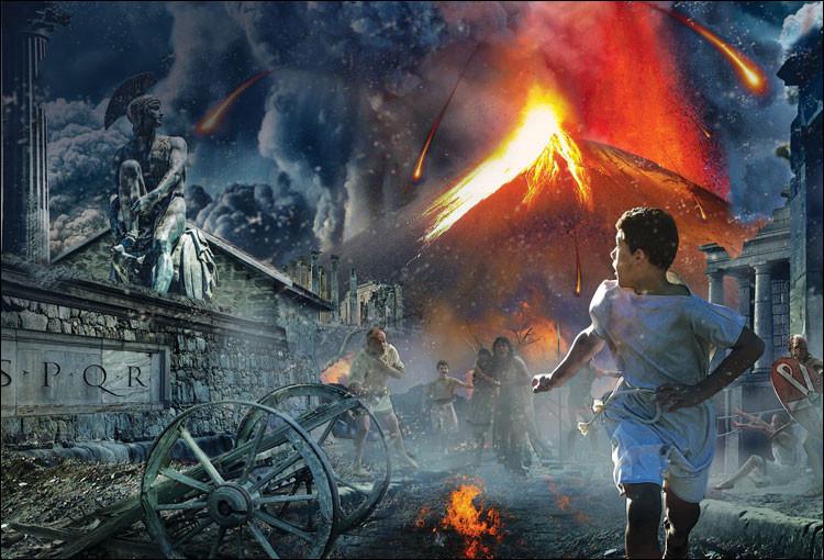 En quelle année l'éruption du Vésuve détruira complètement la cité de Pompéi ?