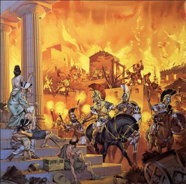 Le général macédonien Alexandre le Grand rasa impitoyablement cette cité grecque et son fameux bataillon sacré. Quelle est-elle ?