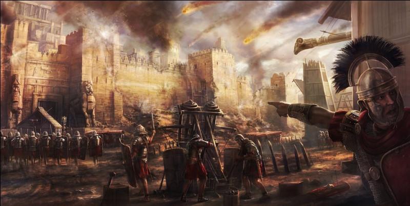 Au bout de la troisième guerre punique l'armée romaine rasa cette cité et extermina tous ses habitants. Quelle est-elle ?