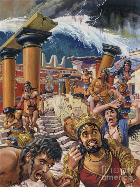 Très ancienne capitale de l'Empire minoen engloutit et détruite par un énorme tsunami. Quelle est-elle ?