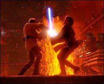 Dans le duel entre Anakin et Obi-Wan à la fin de l'épisode III, qui remporta le combat ?