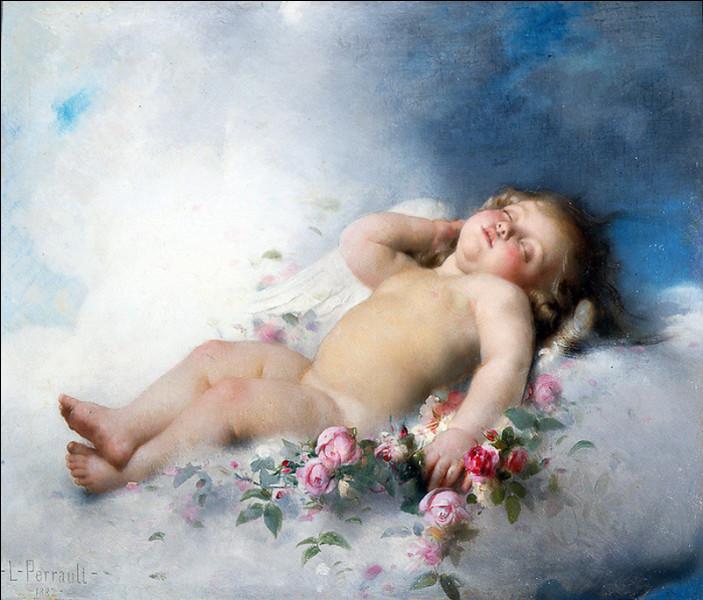 Bébé nu, angelot, symbolisant l'amour dans la peinture italienne :