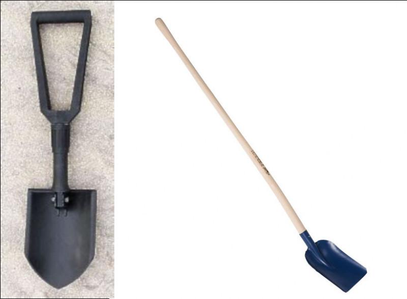 Ce genre de pelle est inspiré de l'ancien outil de saunier (à gauche) pour curer les rigoles : quel est son nom ?