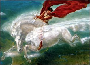 Quel cheval mythologique Bellerophon réussit-il à apprivoiser ?