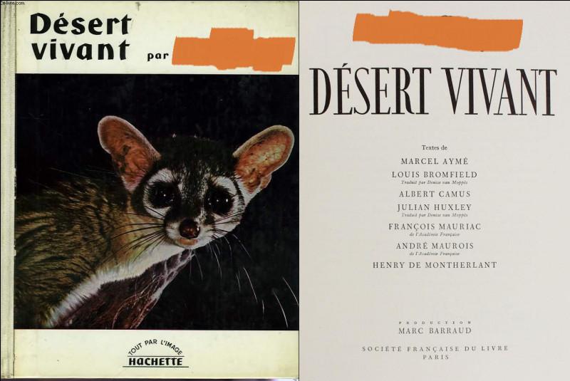 Dans un tout autre registre, il participe avec d'autres célèbres écrivains, à ce livre de(s) [...quel(s) auteur(s) ?] sorti en 1954.