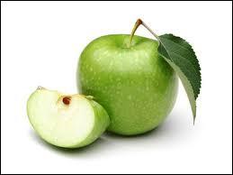 Quel est le nom de cette variété de pomme à la couleur verte, ferme et croquante ?