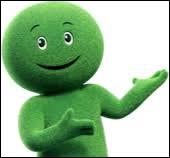 Quelle marque de crédit a pour mascotte ce bonhomme vert ?