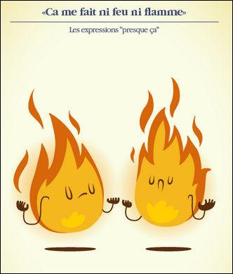 """""""Ça ne me fait ni feu ni flamme !"""" > Je suis sûr que vous brûlez... de donner la bonne version, non ?"""