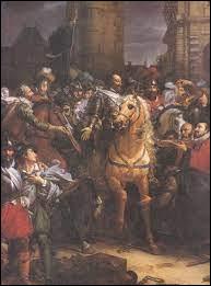 Le 22 mars 1594, quelle action effectue le roi pour entrer dans Paris ?