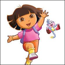 Quel est ce dessin animé où une petite fille se balade avec son singe ?