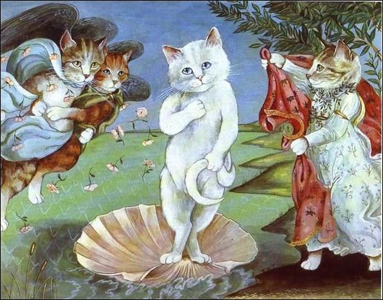 Le chat blanc a pris la place d'une divinité romaine, laquelle ?