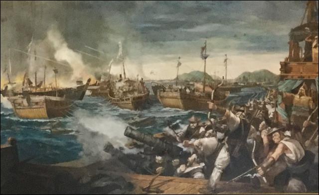 Le 15 aout 1592, la bataille de l'île Hansan voit la défaite de la flotte japonaise qui perd plus de la moitié de ses navires. Qui affrontait-elle ?