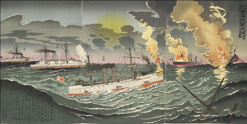 Le 17 septembre 1894, la bataille du fleuve Yalou voit la victoire de la marine japonaise sur ...