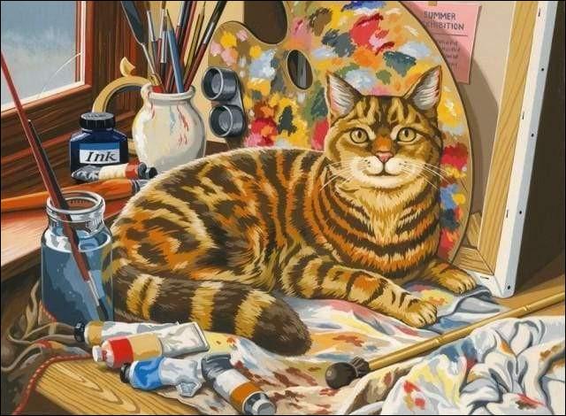 Ce chat peintre d'origine russe, à l'œuvre symbolique et colorée, a peint la coupole de l'Opéra Garnier à Paris en 1964.