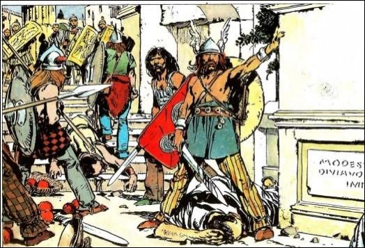 Quel chef gaulois ravagea et saccagea la cité de Rome en 387 av J. -C ?