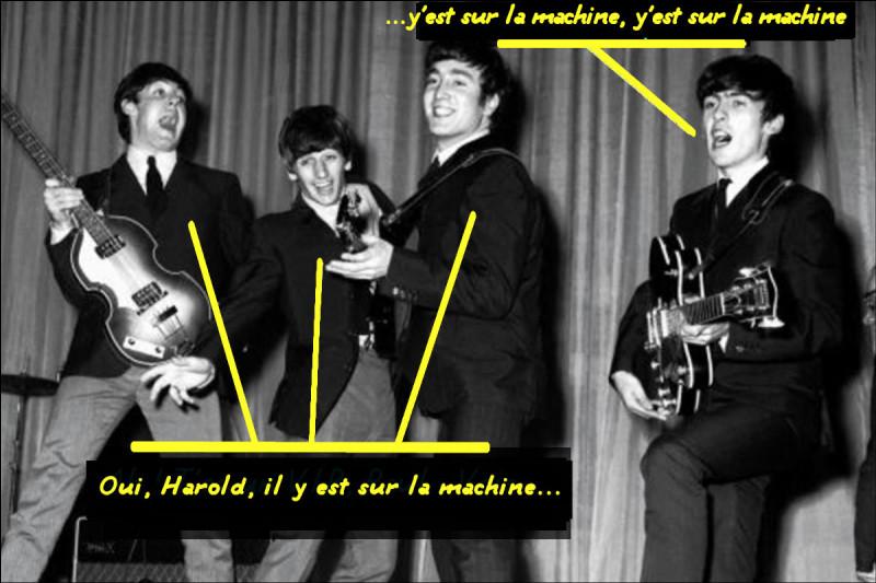 Alors que les Beatles, imperturbables, chantent encore des chansons aux textes approximatifs... Quel est celui-ci ?