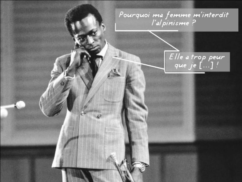 Retrouvez le nom de cet immense musicien de jazz grâce à l'image !