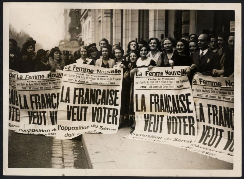 En quelle année les femmes ont-elles obtenu le droit de vote en France ?