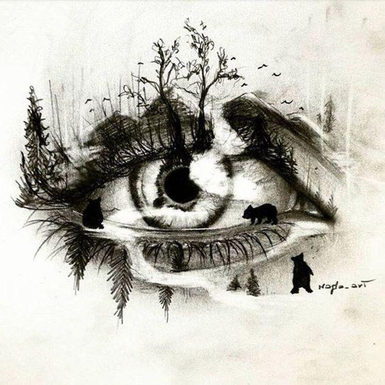 Autour de l'œil