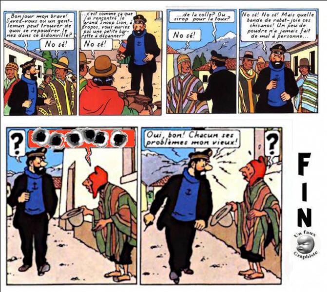 """Le capitaine se met en quête d'un """"remontant""""... Que lui dit le mendiant qui n'est pas sans lien avec sa problématique ?"""