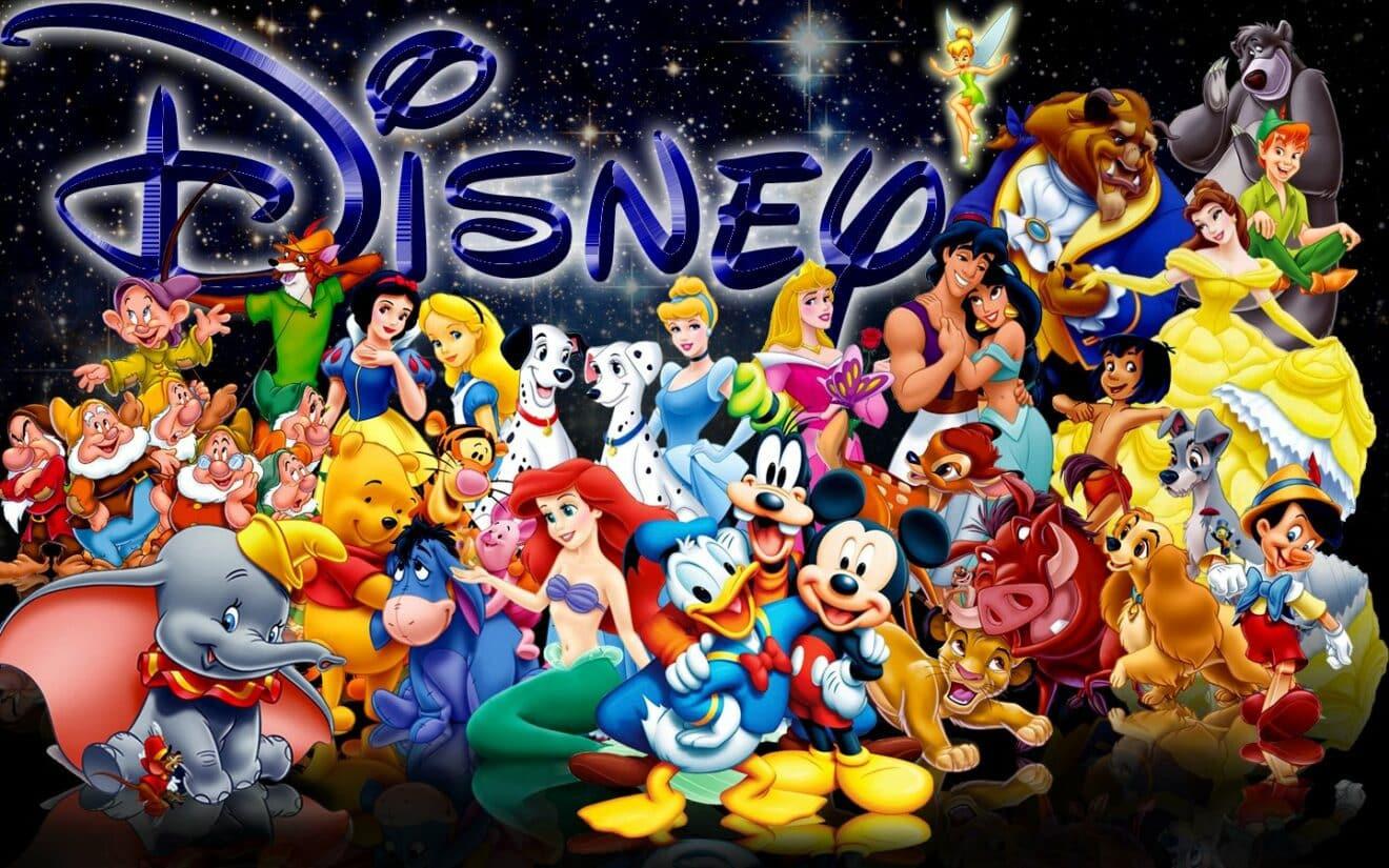 La première version des personnages Disney