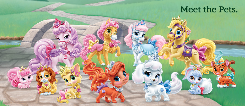 Les Palaces Pets chevaux des princesses Disney