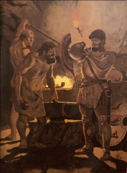 Sous quel volcan se situe l'atelier du maître forgeron Héphaïstos ?