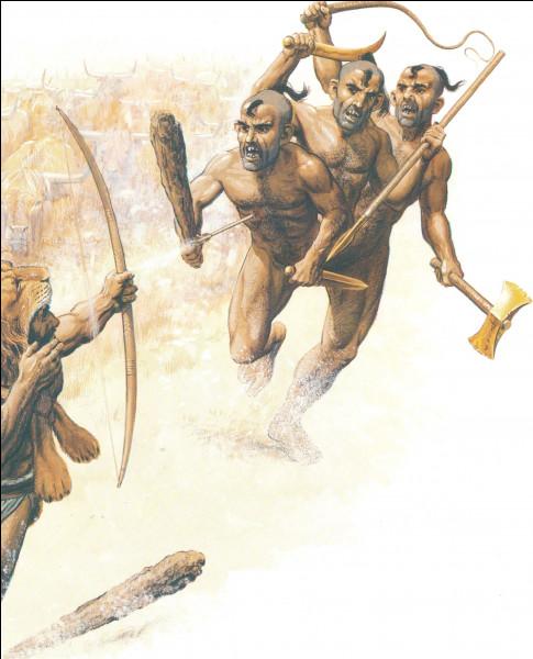 Qui est ce géant à trois têtes, gardien d'un troupeau de boeufs anthropophages criblé de flèches par le héros Héraclès ?