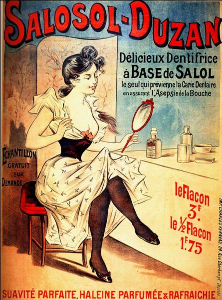 Nom courant du salicylate de phényle utilisé en médecine comme antiseptique intestinal et antirhumatismal et pour la fabrication de dentifrice :