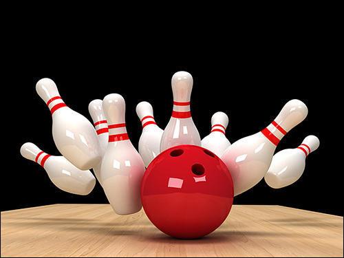 Au bowling, renversement de toutes les quilles en deux coups :