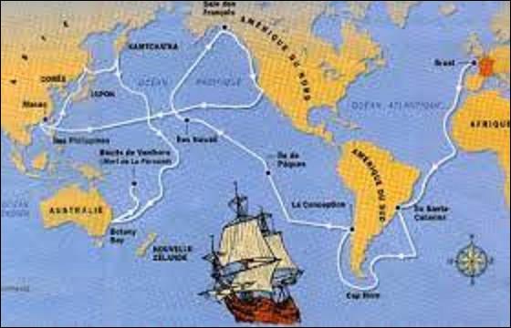 1er août 1785 : ''La Boussole'' et l'Astrolabe'', les deux frégates de l'expédition scientifique dirigée par le comte Jean-François de La Pérouse, lèvent l'ancre à Brest pour faire le tour du monde. Combien d'années lui faudra-t-il pour accomplir cette mission ?