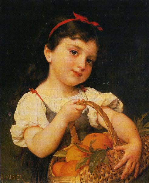 """Qui a représenté cette """"Petite Fille au panier d'oranges"""" ?"""