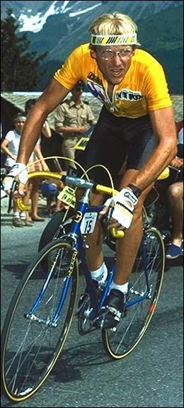 Laurent Fignon prendra trois fois le maillot jaune à l'Alpe :