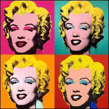 Quelle célébrité est représenté sur ce tableau du mouvement pop art ?