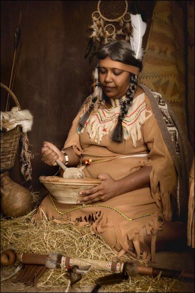 Femme indienne d'Amérique du Nord :