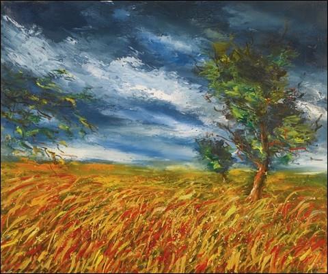 """Qui peint """"Champ de blé avec arbre"""" ?"""