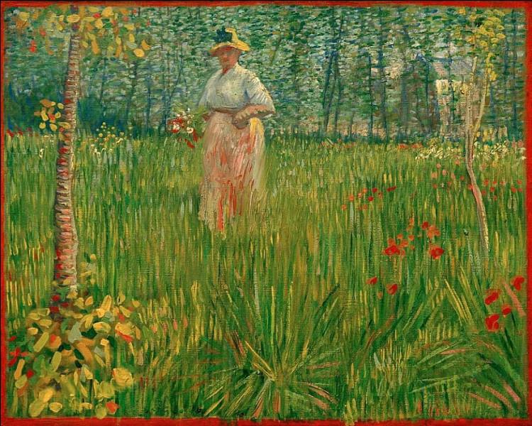 Qui représenté cette femme dans le jardin ?