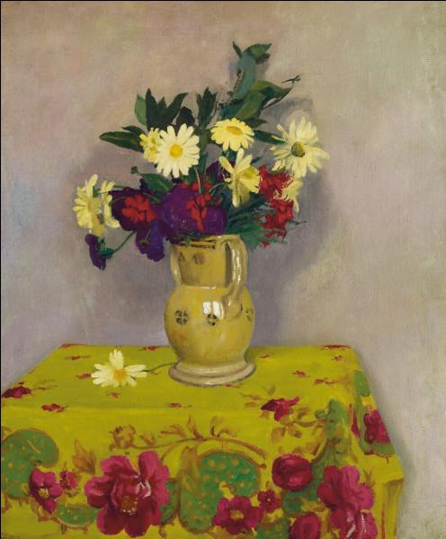 """Qui a peint le tableau """"Marguerites jaunes et fleurs"""" ?"""