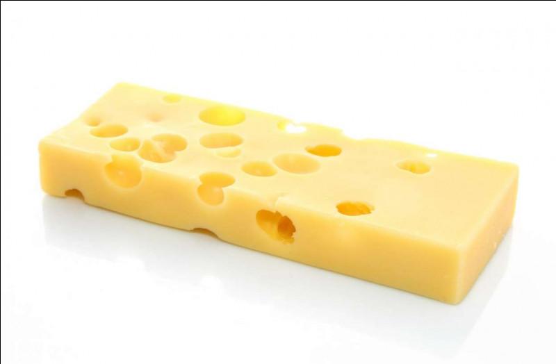Quel est ce fromage au lait de vache avec plein de trous ?
