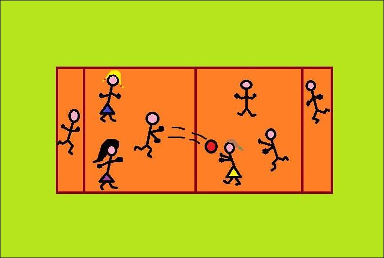 Similaire au jeu précédent, il se compose de deux équipes, séparées par une zone limitée. Le but est de lancer un ballon sur une personne du camp adverse pour le faire prisonnier. D'après-vous, de quel jeu s'agit-il ?