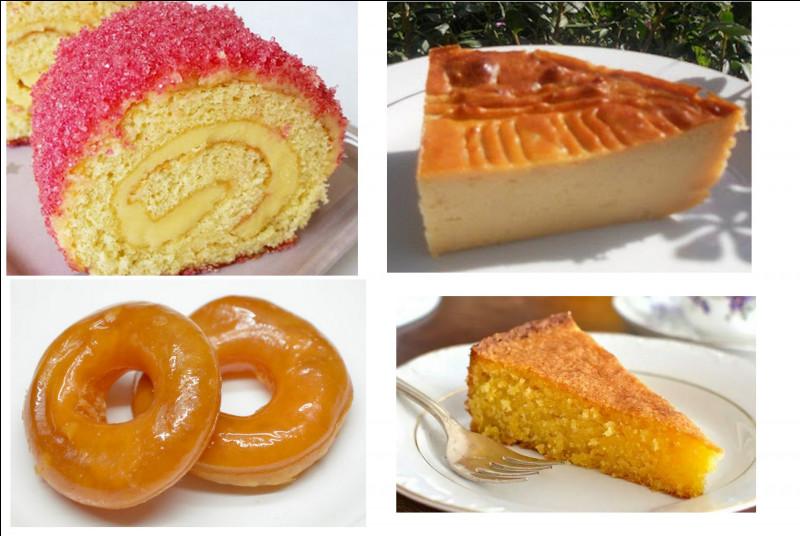 Passons au dessert. Nommez les quatre produits au choix qui s'offrent à vous :