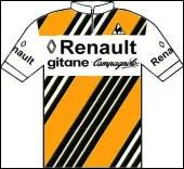 En 1982 trois coureurs de l'équipe Renault Gitane vont porter le maillot rose successivement en début de tour : Bonnet, Fignon, Hinault.