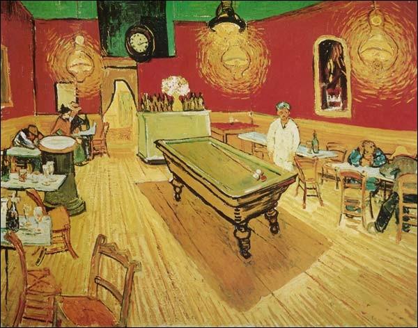 C'est une table de billard dans un café de nuit, qui en est l'auteur ?