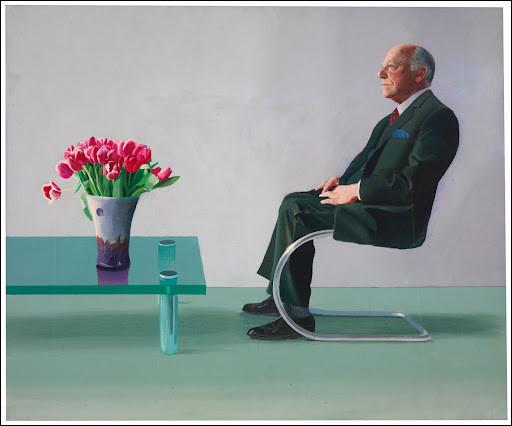 Qui a fait le portrait de Sir David Webster près d'une table ?