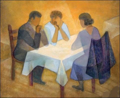 """Qui a peint """"À table"""" ?"""