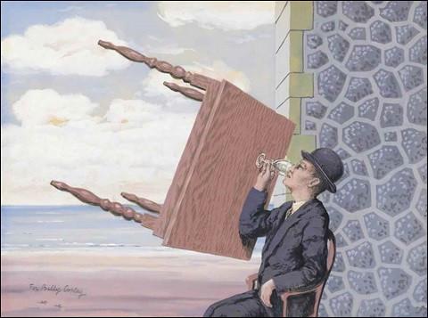 """Quel peintre surréaliste a représenté cet """"Homme assis à table"""" ?"""
